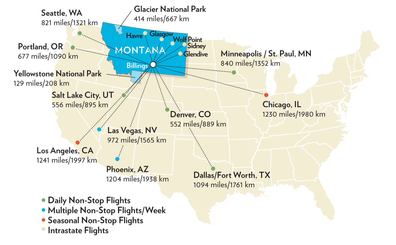 air service to billings map